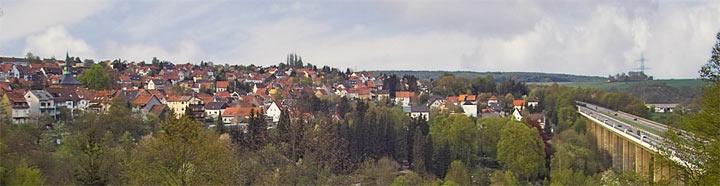 Bischmisheim 2006 - Panorama von der Gartenstrasse aus