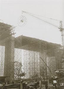 Bau der Autobahn