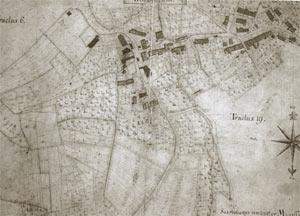 Flurkarte aus den Jahre 1763